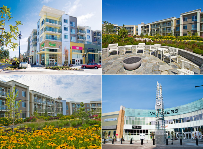 The Shops at Morgan Crossing are on site services and amenities available to South Surrey condo residents.