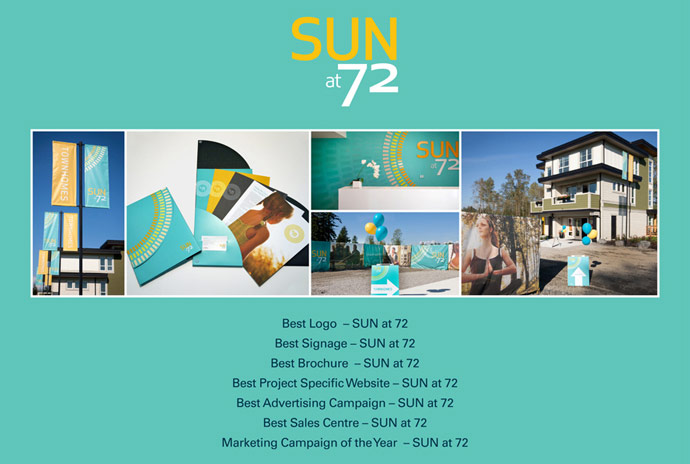Georgie awards recognizes the Sun at 72 Surrey real estate development with the project getting nods for 7 finalist awards.