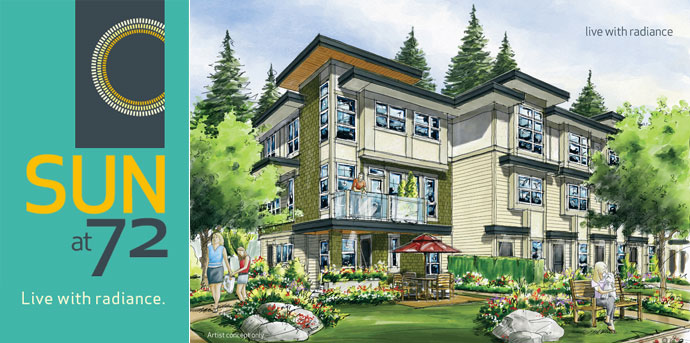 Clayton Surrey real estate development at Sun at 72 Townhomes by Solterra Group of Companies.