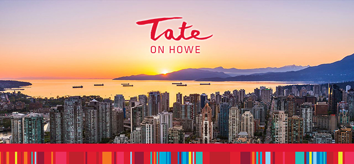 Enjoy magnificent views from the preconstruction Vancouver Tate on Howe condo high-rise landmark tower in Vancouver Downtown South district.