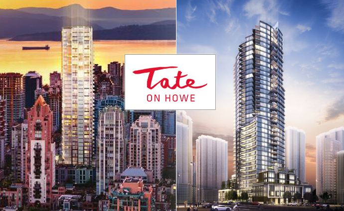 2 initial renderings at the Downtown Tate on Howe Vancouver condos for sale.