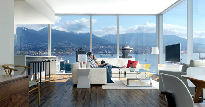 New image of the downtown Vancouver Telus Garden condo interior features.