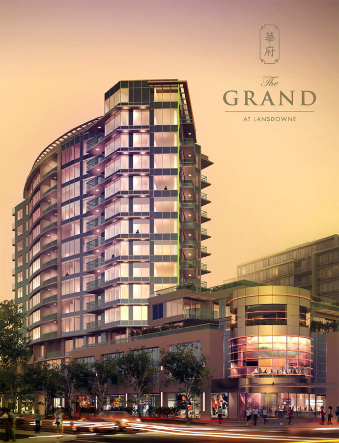 The Grand at Lansdowne Richmond condo and townhouse project now launching.