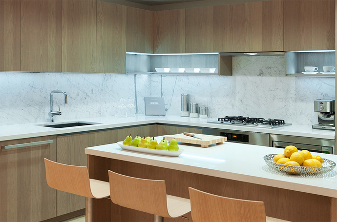 Integrated appliances in kitchens at THE MET Burnaby SKY PENTHOUSES