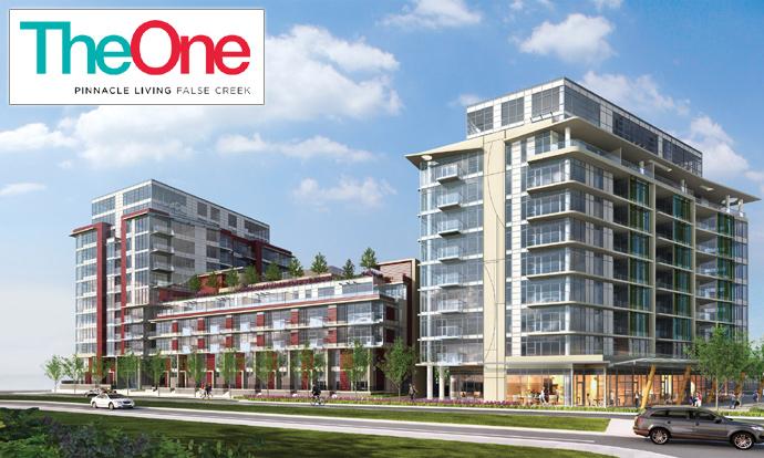 Pinnacle International The One Pinnacle Living False Creek Vancouver real estate development.