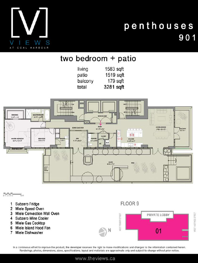 Penthouse floor plan.