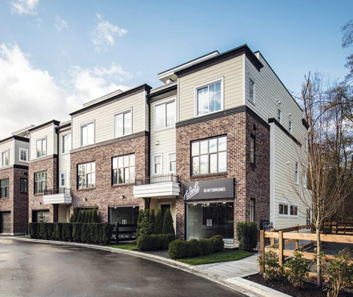 New rendering of The Woods South Surrey townhomes in Croydon neighbourhood
