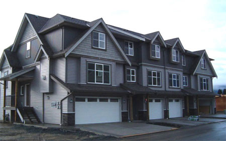 No BC HST at the new Chilliwack homes for sale at Wolfe Road Townsend Terrace townhouses.