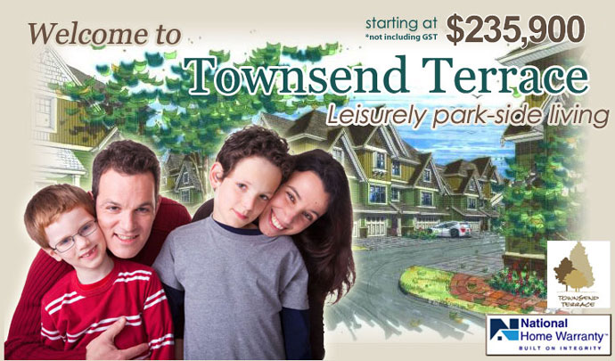 New Townsend Terrace Chilliwack Townhomes for Sale by Vedder Ridge Construction