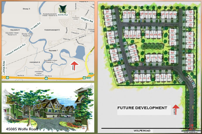 Chilliwack real estate development features a subdivision of townhomes.