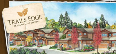 Maple Ridge townhomes and townhouses offered at Trails Edge, a green and open space of master planned environmentally friendly community.