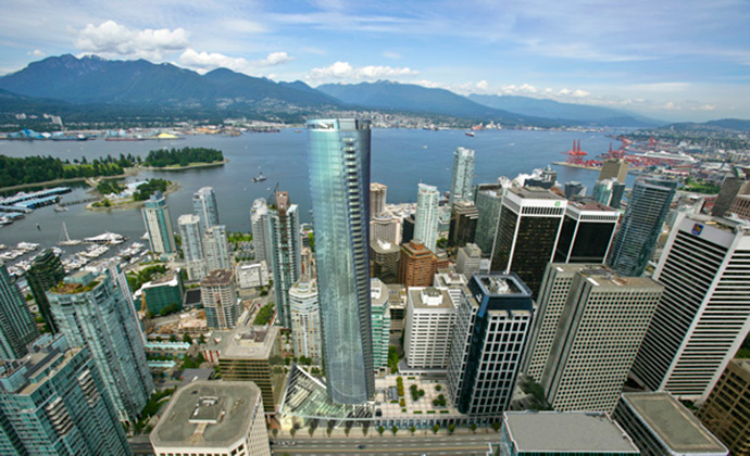 Vancouver landmark tower by TRUMP and Holborn Group.