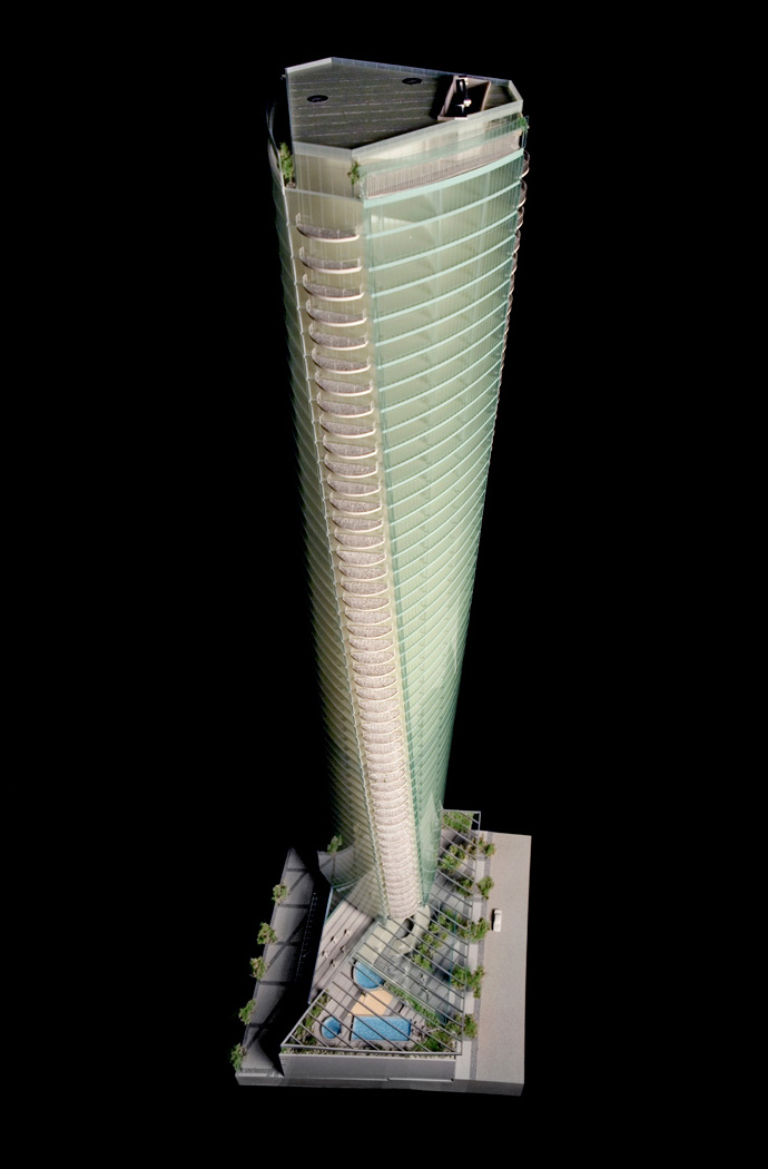 Rendering of the Trump International Tower in Vancouver.