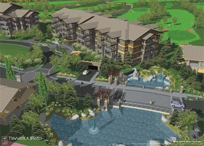 The Tsawwassen Golf and Country Club will be redeveloped with an extension to the course in addition to a new clubhouse and the residential Tsawwassen Springs apartment units and townhouses for sale.