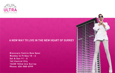 Ultra Condos in Surrey are the first master-planned high-rise tower by Westone Property in Urban Village.