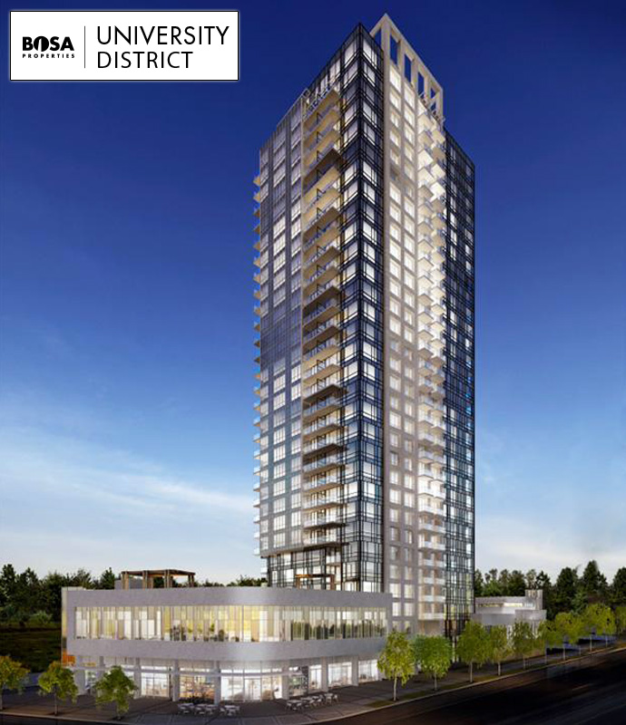 Preconstruction Surrey University District by Bosa Properties.