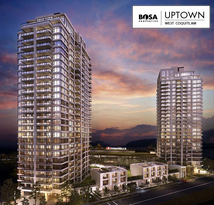 Presale Coquitlam UPTOWN by Bosa Properties.