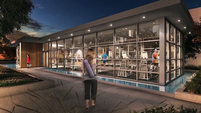 The presale Coquitlam Uptown2 Wellness Centre Pavilion amenities.