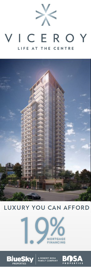 The spectacular New Westminster Viceroy condo tower in Uptown