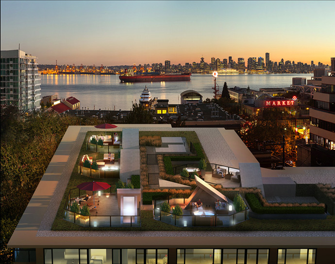 Spectacular rooftop patio decks for the North Van Wallace & McDowell Platinum Series Homes and Penthouses.