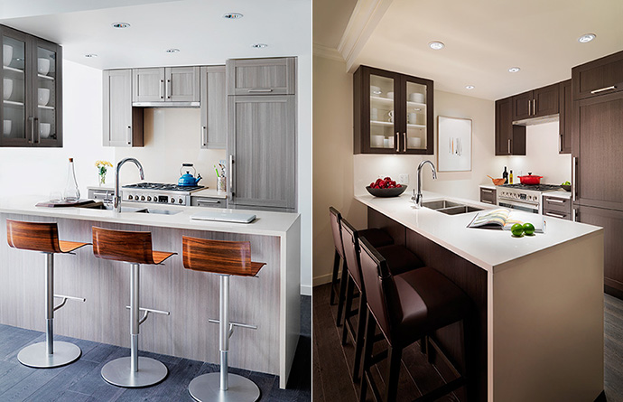 High end appliances, counters and cabinets grace every Vancouver WCCP condo in Tower 3.