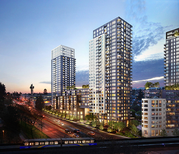 A render of the WCCP Tower 3 Condos in Collingwood Vancouver.