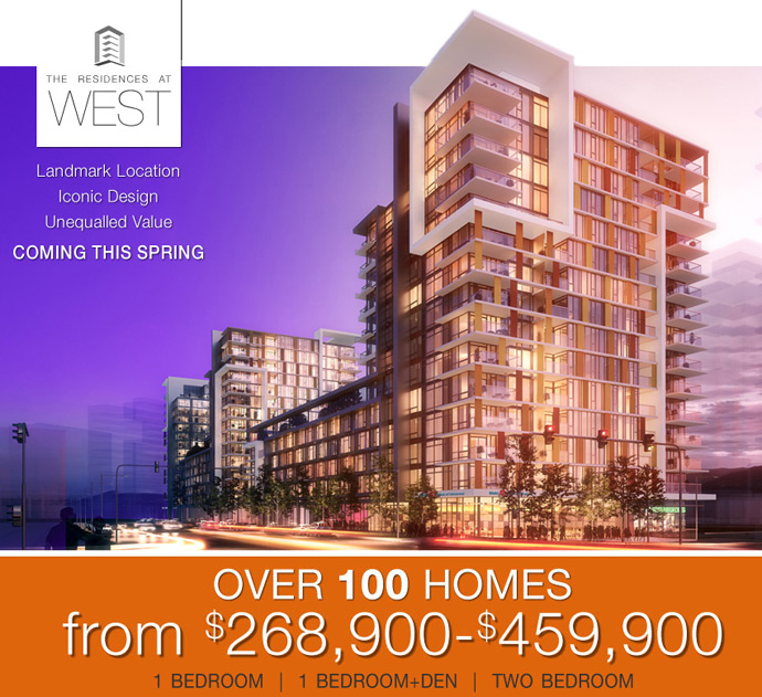 The Residences at WEST Vancouver False Creek condo towers by Executive Group Development builders