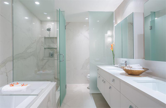 The high-end bathrooms are just the start of these luxury Vancouver West 10th residences at Maple and Arbutus.