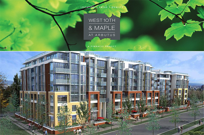 West 10th & Maple Vancouver Westside condo residences now selling.