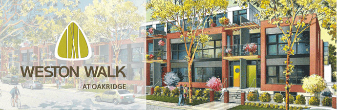 The new Weston Walk Vancouver townhome development designed by W.T. Leung Architects and BBA Design Consultants.