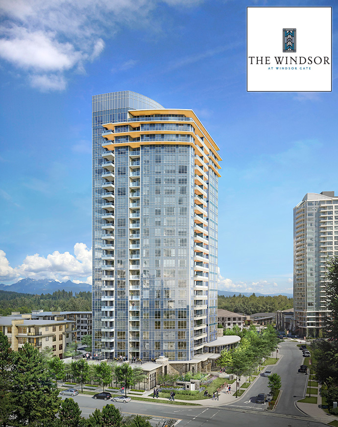 The Windsor at Windsor Gate Coquitlam master planned condo community by Polygon Homes.