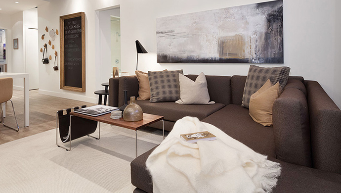 Beautiful living spaces at the presale North Shore x61 North Vancouver apartment residences.
