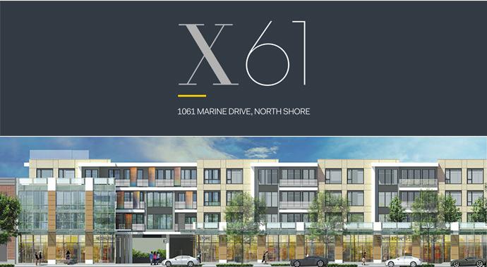 North Vancouver x61 Condos along Marine Drive.