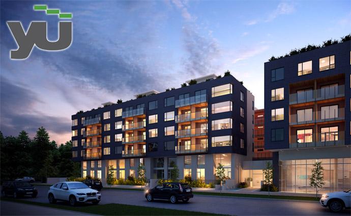 Westside Vancouver YU condo building rendering.