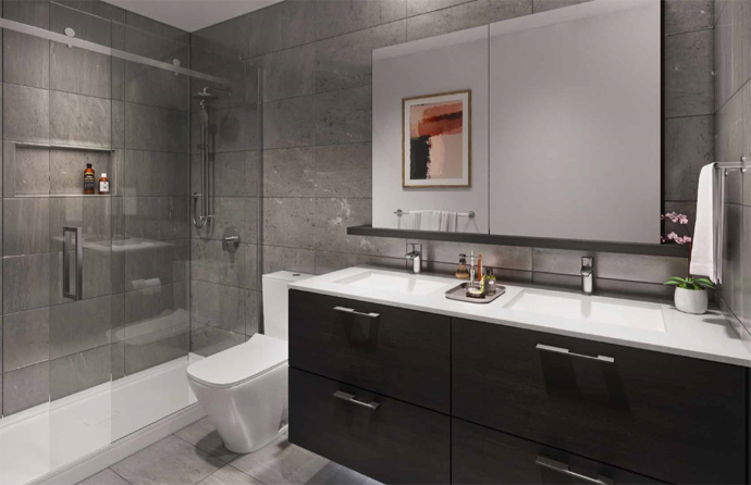 Master Ensuite at Akimbo Living in Brentwood Burnaby