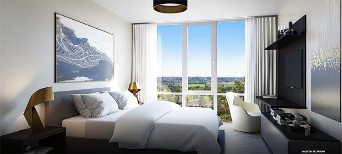 Spacious bedrooms at Altus Condo Living.