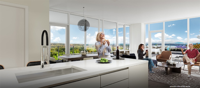 Beautiful kitchens at Altus in White Rock