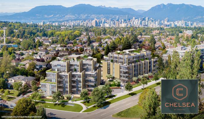 Westside Vancouver Chelsea Condo Rendering