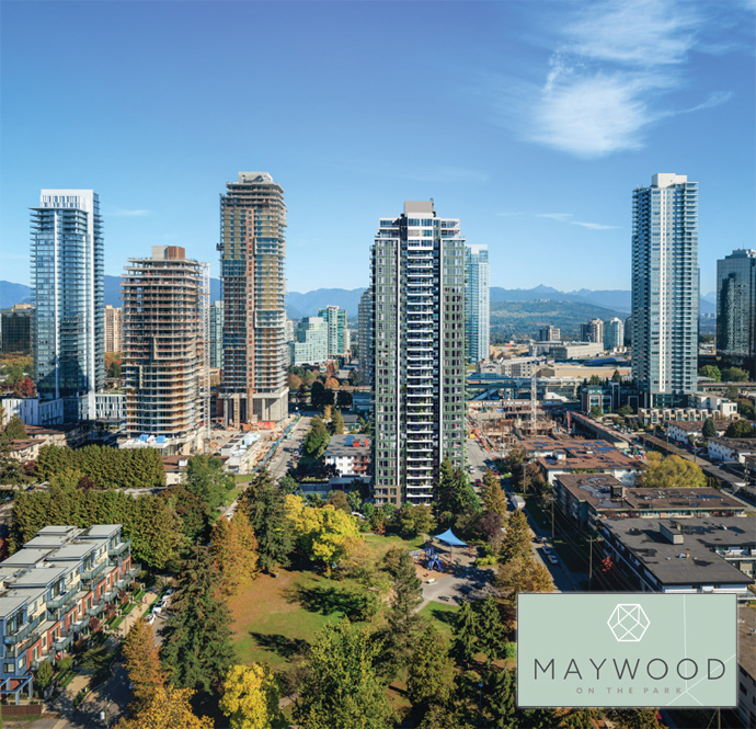Intracorp Maywood on the Park Metrotown condo tower
