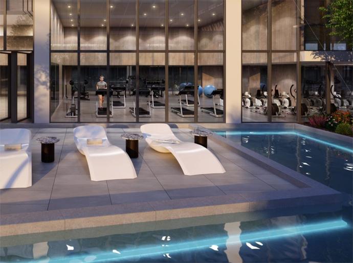 The Paramount Club swimming pool