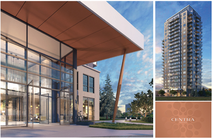Rendering of the new Surrey Centra Condo Tower