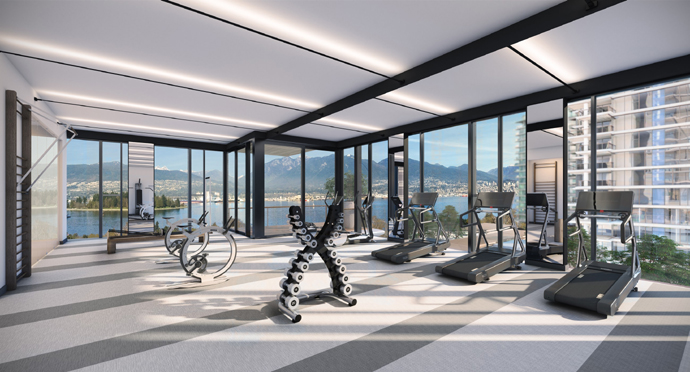 Gym at Landmark Condos in Vancouver Downtown