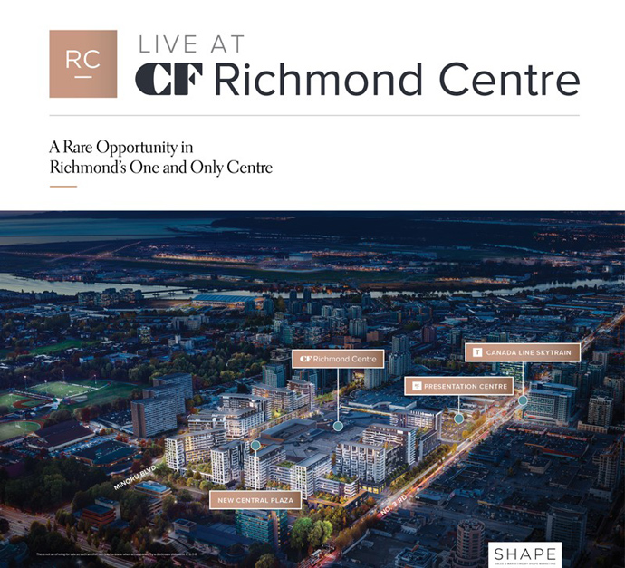 CF Richmond Centre Condo Presales starting soon