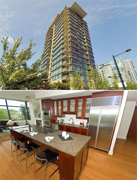 These downtown Vancouver waterfront condominiums at the Lumiere Coal Harbour Condo Residences are now available on the re-sale property market.