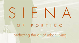 The Siena of Portico South Granville condos are exceptional condominium residences along the waterfront.
