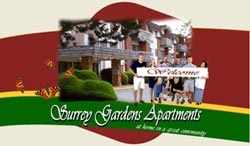 Surrey Gardens Rental Apartments provide a wealth of amenities including on site laundry, clubhouse, swimming pool and much more all included in your rental lease agreement.