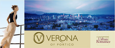 The Verona of Portico South Granville Vancouver real estate development is complete and ready for the resale property market.
