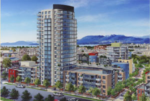 High-end finishes, security alarms, underground  parking and convenient location are advantages of the Vancouver Verona Condos at Portico living.