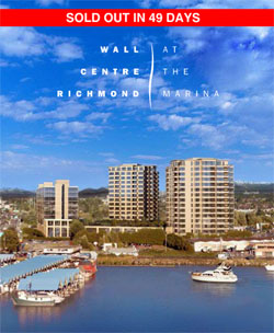 The re-sale Richmond Wall Centre residences are riverfront Richmond condominiums for sale.